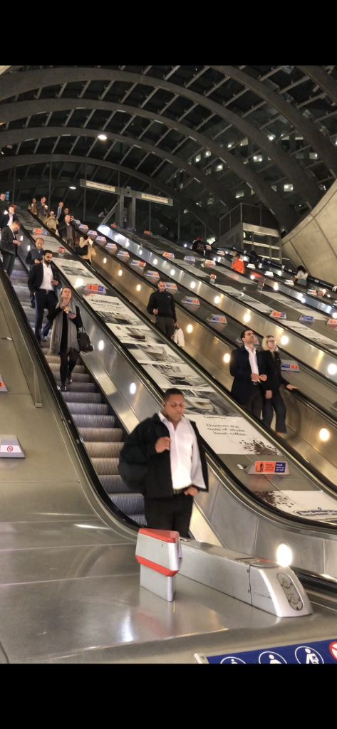 CanaryWharf escalators